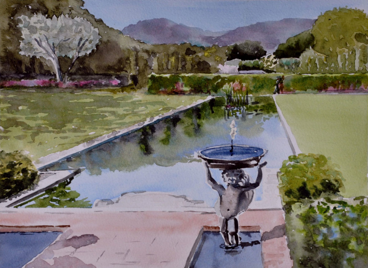 Sketchbook leslie landers for Filoli garden pool